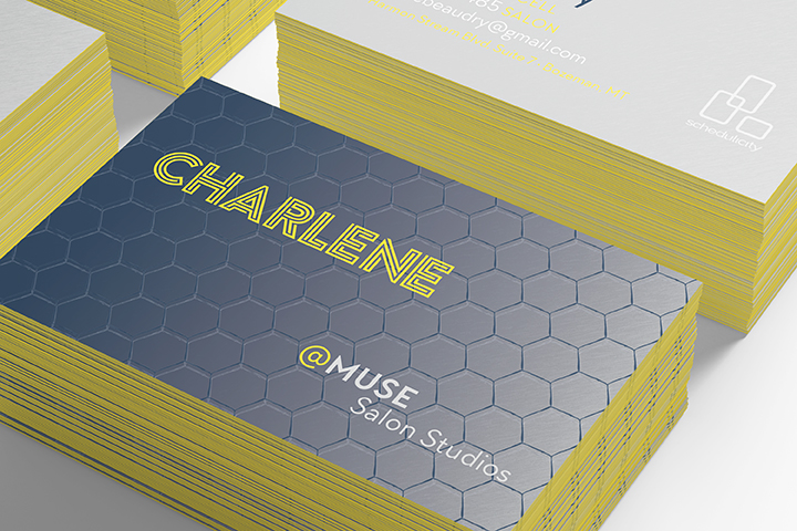 Charlene business card design